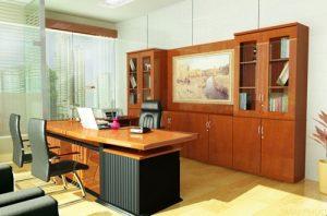 Văn phòng sang trọng và lịch lãm nhờ nội thất gỗ verneer