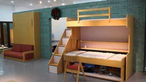 Giường đứng cho trẻ giúp tiết kiệm không gian tối đa