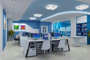 Thiết kế nội thất văn phòng ngăn nắp và gọn gàng, tinh tế