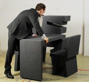 Bàn làm việc hình khối có thể di chuyển