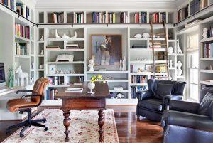 Mẫu thiết kế phòng làm việc tại nhà theo phong cách truyền thống