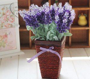 Hoa khô trang trí cho bàn làm việc
