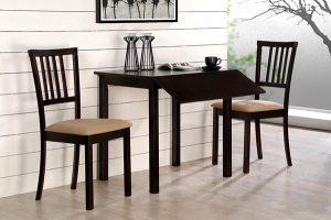 Mẫu bàn ăn gỗ cao su tự nhiên 2 ghế