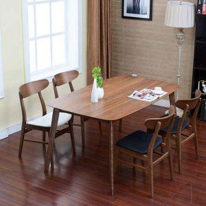 Bộ bàn ăn óc chó dành cho không gian nhỏ