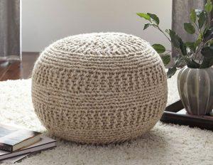 Ghế nệm làm từ len