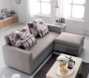 Sofa góc khung sắt thời trang