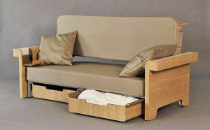 Sofa kết hợp bàn làm việc và giường