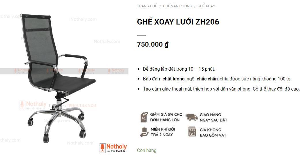 Mua ghế xoay giá rẻ chất liệu lưới