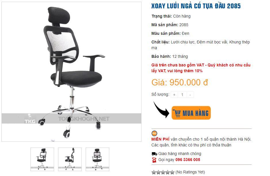 Mua ghế xoay giá rẻ giám đốc