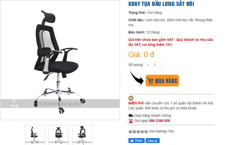 Mua ghế xoay giá rẻ tại TONGKHOGHE