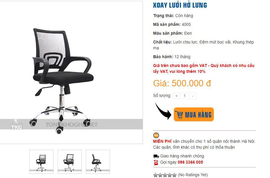 Mua ghế xoay giá rẻ chất lượng cao