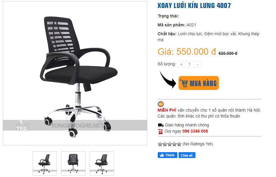 Mua ghế xoay giá rẻ đẹp tại TONGKHOGHE